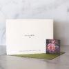 Photo of Back of Horizontal Card_Green Envelope