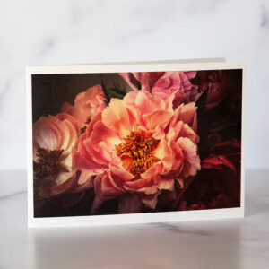 Photo of Golden Pink Peonies Greeting Card