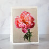 Photo of Pink Peony and Honeybee Greeting Card