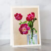 Photo of Pink Tulips in Decanter Greeting Card