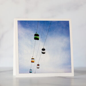 Photo of Santa Cruz Beach Boardwalk Sky Glider Greeting Card