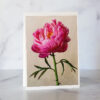 Photo of Single Pink Peony Greeting Card