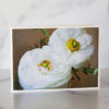 Photo of White Ranunculus Greeting Card