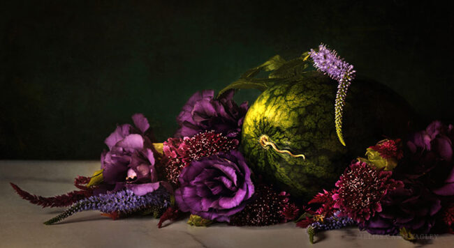 Photo of Watermelon and Flowers by Melissa Bagley