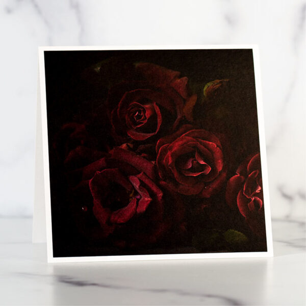 Dark Knight Roses Greeting Card