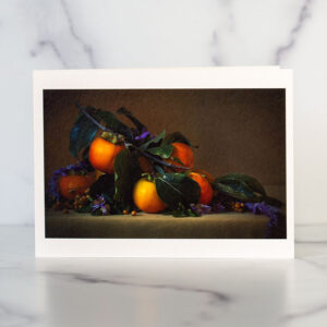 Fuyu Persimmons Greeting Card