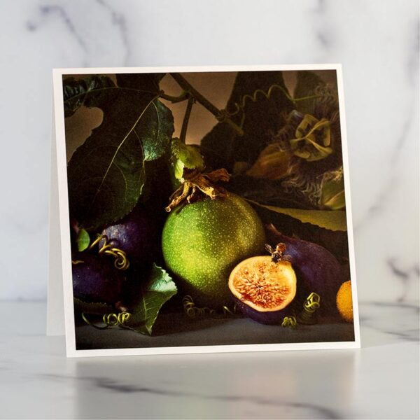 Passion Fruit and Figs Greeting Card