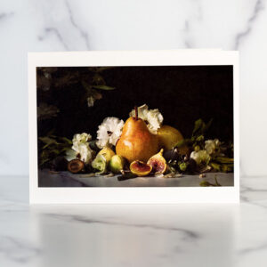 Pear and Figs Greeting Card
