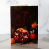 Photo of Pomegranate and Roses Mini Card by Melissa Ann Bagley