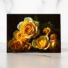Photo of Blue Butterfly and Yellow Roses Mini Card by Melissa Ann Bagley