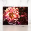 Photo of Dark Pink Peonies Mini Card by Melissa Ann Bagley