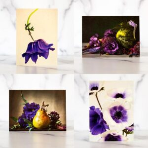 Photo of Purple Mini Greeting Card Set by Melissa Ann Bagley