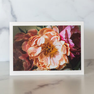 Photo of Pale Pink Peony Greeting Card by Melissa Ann Bagley