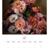 July 2022 wall calendar page with pink roses and poppies on it