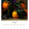 November 2022 wall calendar page with fuyu persimmons on it