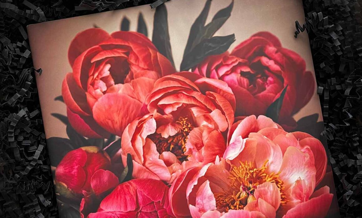 Photograph of Fine Art Ceramic Tile with Peonies on it by Melissa Bagley