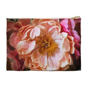 Photo of Peony Zippered Pouch_Front View