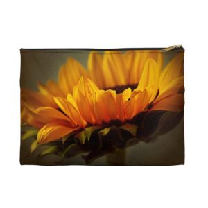 Photo of Yellow Sunflower Zippered Pouch_Front View